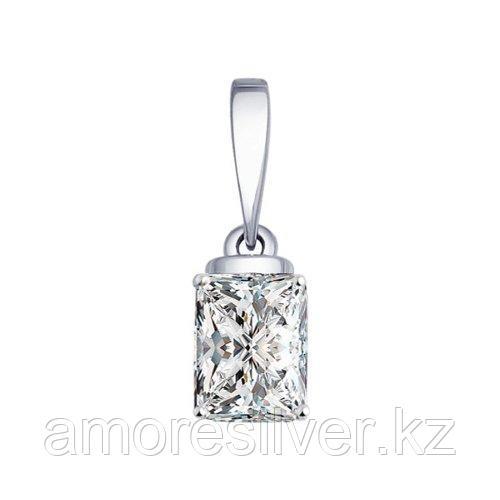 Подвеска SOKOLOV серебро с родием, фианит  94031755