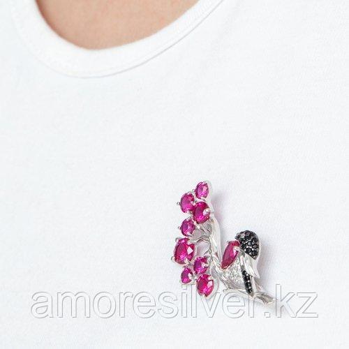 Брошь SOKOLOV серебро с родием, фианит корунд синт., фауна 94040139 - фото 5