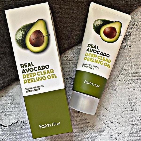 Пиллинг-гель для лица с экстрактом авокадо Farm stay