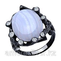 Кольцо SOKOLOV серебро с родием, агат фианит, модное 94-310-00519-3 размеры - 19