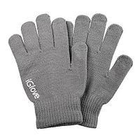 Перчатки для сенсорных экранов iGlove с логотипом (Серый), фото 1