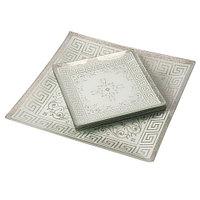 Набор посуды для сервировки стола Royal Glass [7 предметов] (Серебряные узоры)