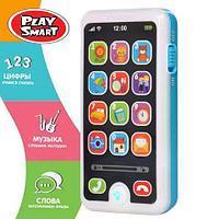 Смартфон интерактивный обучающий iPhone для детей «Умняга» Play Smart (Голубой)
