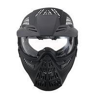 Очки-маска для езды на мототехнике, разборные, визор прозрачный, козырек, черный