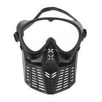 Очки-маска для езды на мототехнике, разборные, визор прозрачный, черный
