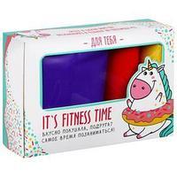 Фитнес набор Fitness time лента-эспандер, набор резинок, инструкция, 10,3 x 6,8 см