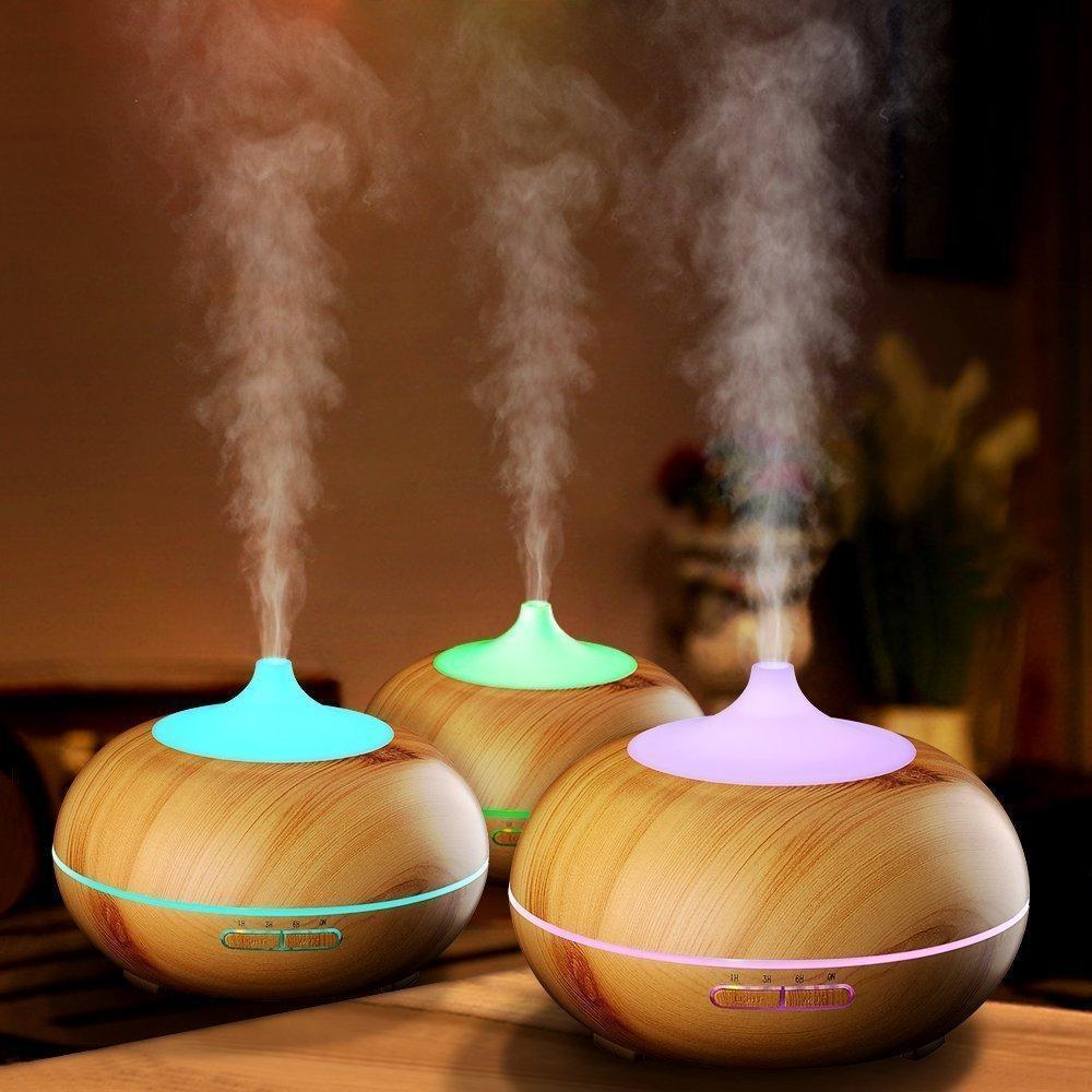 Увлажнитель воздуха, аромалампа,светильник меняет цвета - фото 3