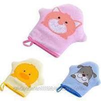 Детская губка-варежка для ванны, фото 2