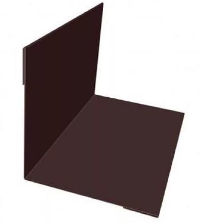 Планка угла внутреннего 115х115х2000 RAL Глянец Коричневый 8017