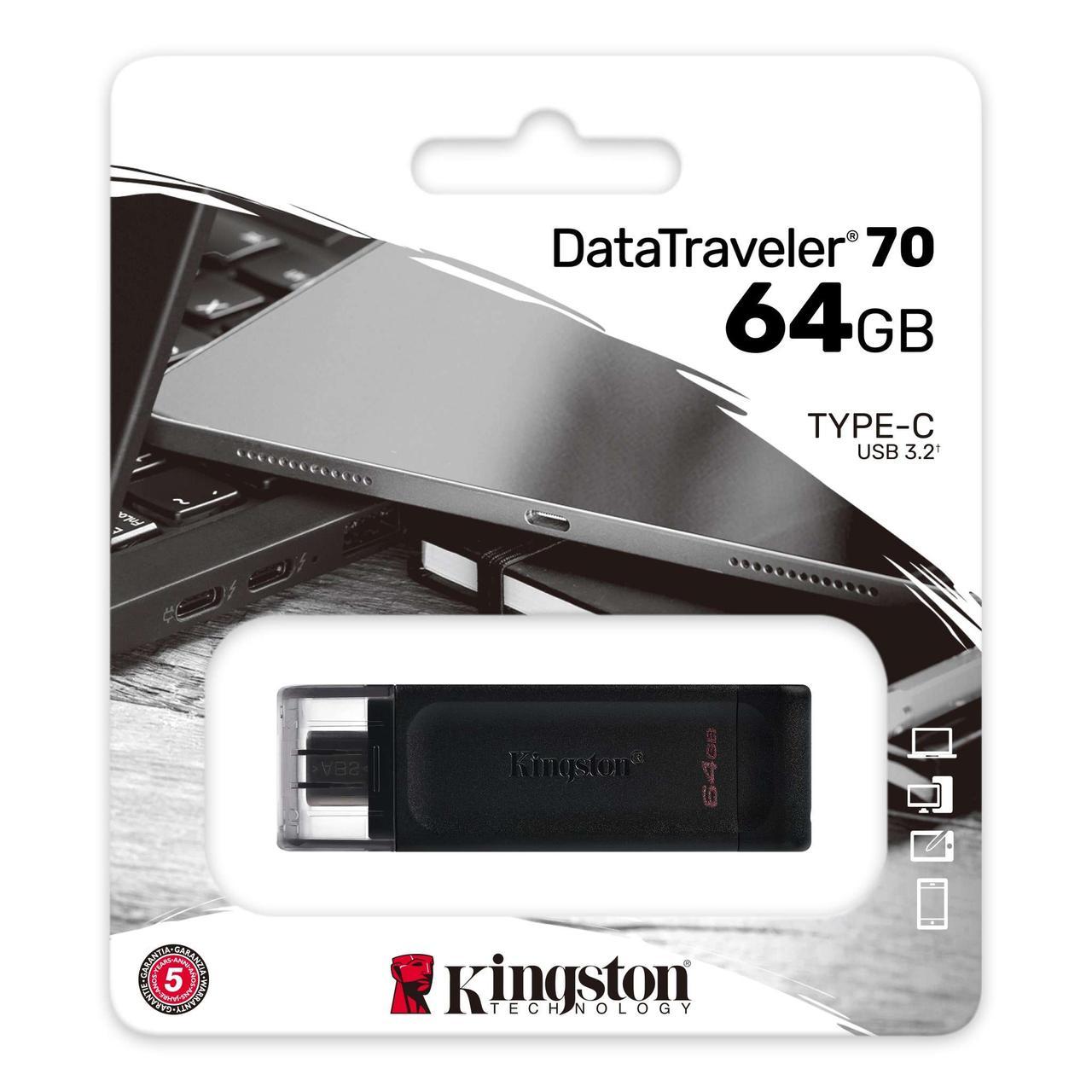 Flash-накопитель  Kingston 64Gb USB-C 3.2 Data Traveler 70