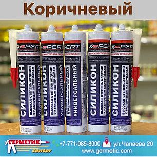 Герметик силиконовый санитарный коричневый X-PERT 24 шт в коробке., фото 2