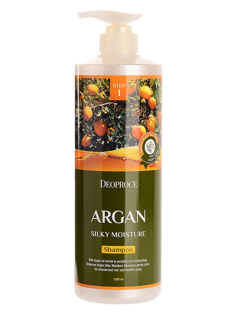 Deoproce Hair Argan Шампунь для волос с аргановым маслом Shampoo Argan Silky Moisture 1000 мл