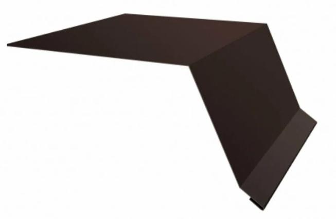 Планка карнизного свеса 200х30х2000 RAL Матовый Коричневый 8017