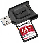 Карта памяти SD, Kingston Canvas React Plus, 64GB