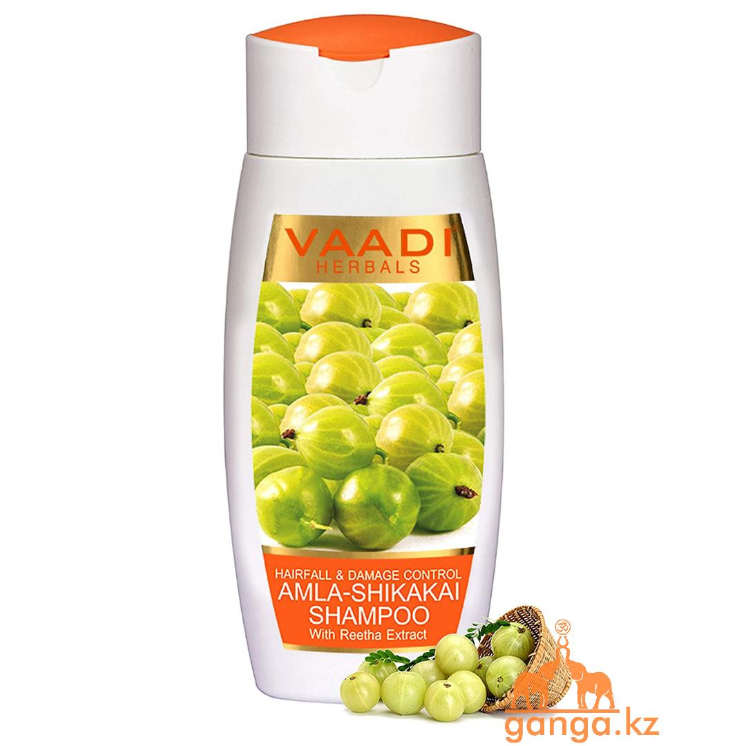Шампунь с амлой ,шикакаем и ритхой (Amla-shikakai with reetha extract shampoo VAADI Herbals), 110 мл