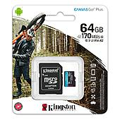 Карта памяти MicroSD, Kingston Canvas Go! Plus, 64GB