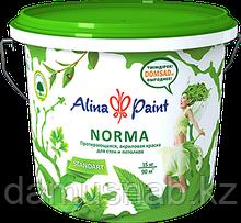 Краска водоэмульсионная  Alina Paint NORMA 15кг(интерьерная,протирающаяся)