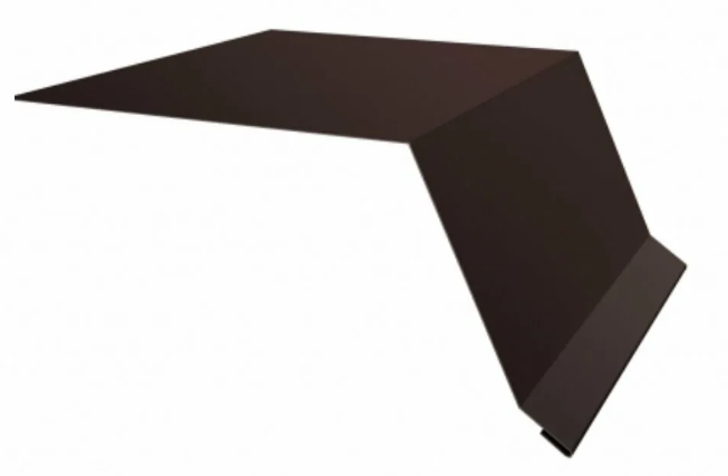 Планка карнизного свеса 250х50х3000 RAL Матовый Коричневый 8017