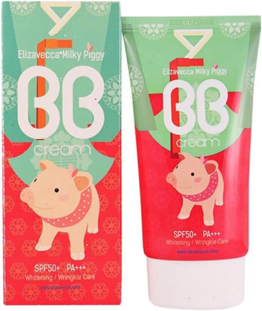 Elizavecca BB крем для лица УВЛАЖНЯЮЩИЙ Milky Piggy BB Cream SPF50