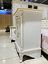 Спальный гарнитур Эмилия, белое/золото, фото 3