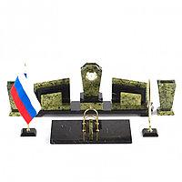 """Настольный канцелярский прибор """"Бюрократ"""" из змеевика"""