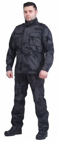 Костюм летний для охоты и рыбалки Novatex Рест Сити (рип-стоп, черный камуфляж), размер 48-50, фото 2