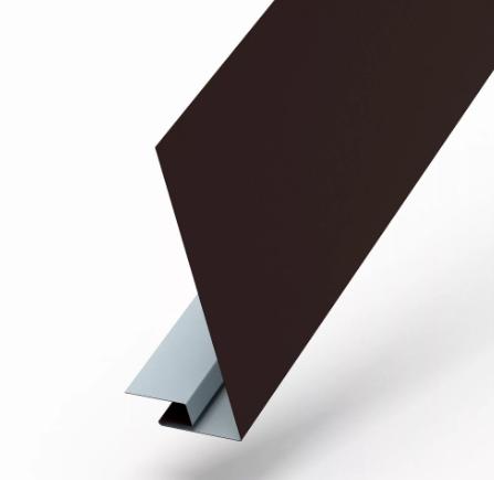 Планка карнизного свеса сложная 250х50х3000 RAL Матовый Коричневый 8017