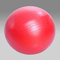L 0165b Мяч гимнастический для фитнеса с 65 см в коробке с насосом (красный)