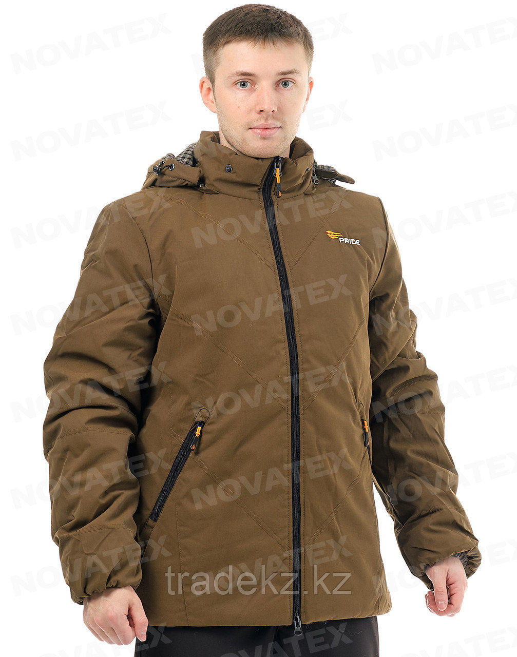 Куртка, парка зимняя Novatex Таганай (ткань граф, коричневый), размер 52-54