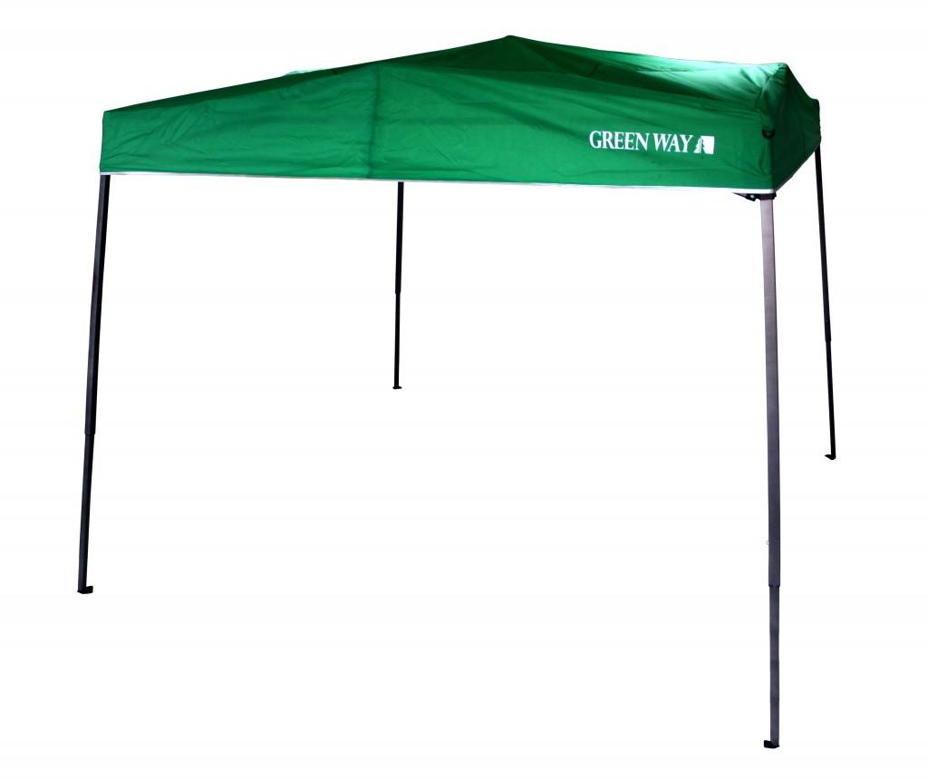 Шатер раздвижной зеленого цвета