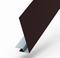 Планка карнизного свеса сложная 250х50х3000 RAL Глянец Коричневый 8017