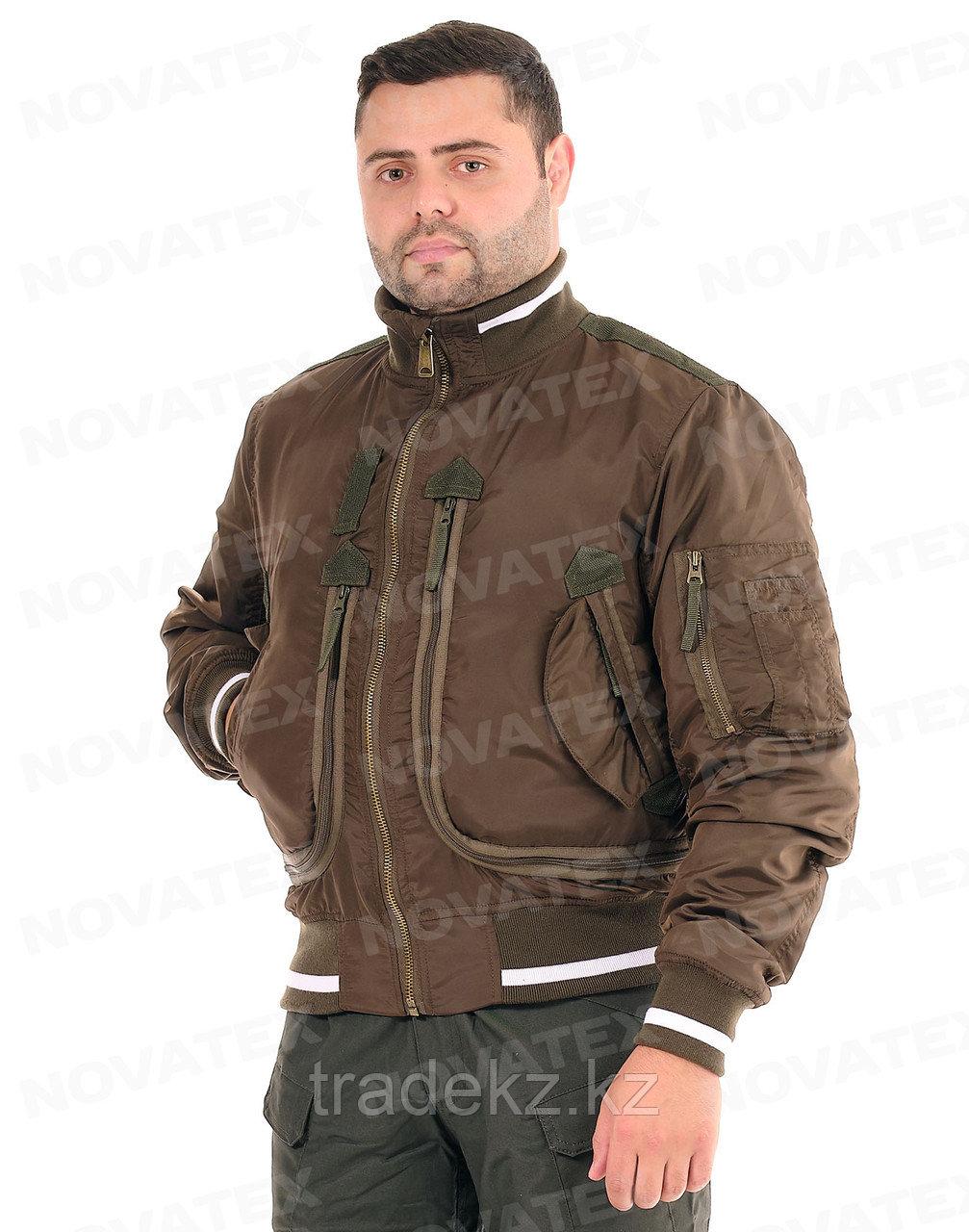 Куртка демисезонная Novatex Бомбер (оксфорд, орех), размер 56-58