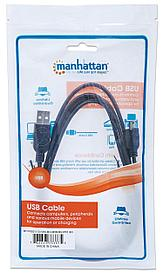 Кабель USB2.0 type AM- Mini-BM Manhattan 1.8м