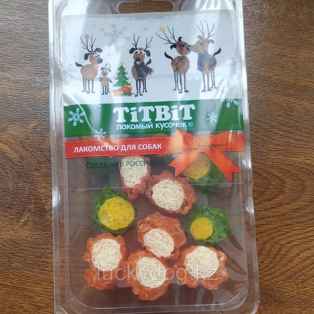 Лак-во ТитБит Суши мясные для собак Калифорния ( Новогодняя колекция) 85г