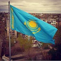 Флаг РК уличный 2*1м