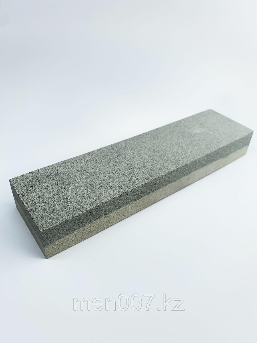 Камень для правки опасной бритвы и ножей двусторонний 120 и 240 грит 200Х55Х25 мм
