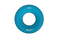 Кистевой эспандер 20 кг, круглый с протектором, синий
