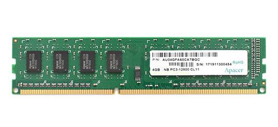 Модуль памяти Apacer DL.04G2K.KAM, 4GB DDR3, 1600 MHz DIMM CL11