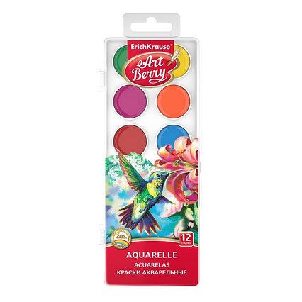 Акварель ArtBerry, 12 цветов, в пластиковой коробке, УФ-защита яркости