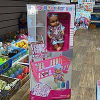 Набор кукла с коляской и кроваткой 5 в 1 203