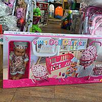 Набор кукла с коляской и кроваткой 6 в 1 221
