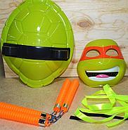 RZ001 Черепашки ниндзя 4 вида(панцырь,оружие,маска) !!пакеты надорваны!!  39*30см, фото 2