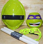 RZ001 Черепашки ниндзя 4 вида(панцырь,оружие,маска) !!пакеты надорваны!!  39*30см, фото 3