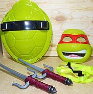 RZ001 Черепашки ниндзя 4 вида(панцырь,оружие,маска) !!пакеты надорваны!!  39*30см, фото 4
