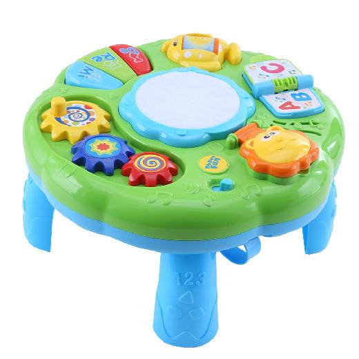 Развивающий столик 2в1 TOT KIDS ЛЁВА (свет,звук) 30*30*18 см (в кор.18 шт.)