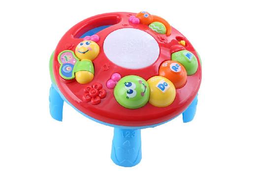Развивающий столик 2в1 TOT KIDS ГУСЕНИЦА (свет,звук) 23*23*18 см (в кор.30 шт)