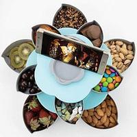 Менажница раздвижная двухъярусная для конфет и орешков Flower Candy Box Double