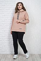 Женский осенний трикотажный оранжевый джемпер Белтрикотаж 4315Д персик 46р.