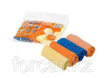 Набор салфеток из микрофибры в рулончиках 4 шт. 20х20 см.