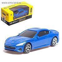 Машина металлическая Maserati GranTurismo, масштаб 1:64, цвет синий